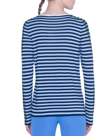 Akris punto Merino Striped Sweater