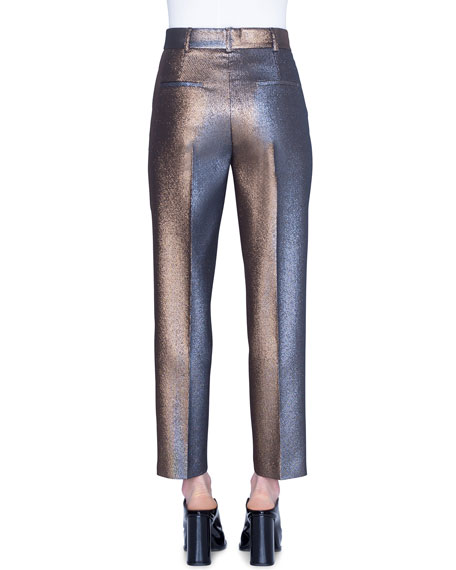 Akris punto Ferry Iridescent Golden Pants