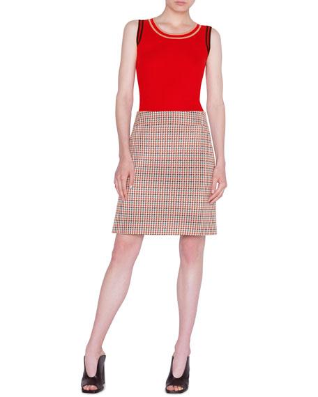 Akris punto Contrast-Trim Sleeveless Wool Top