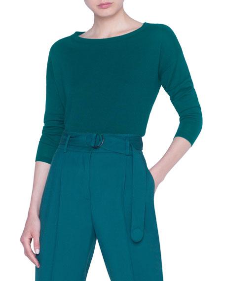 Akris punto Merino-Knit Boxy Sweater