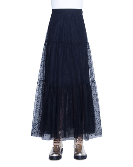Akris punto Starry Sky Tulle Midi Skirt