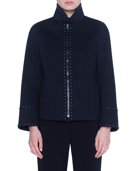 Akris punto Bonded Neoprene Boxy Jacket