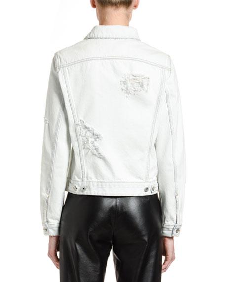 Off-White Classic Distressed Denim Jacket