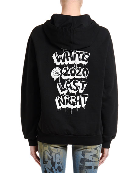 Off-White Logo Graphic Zip-Front Hoodie Jacket