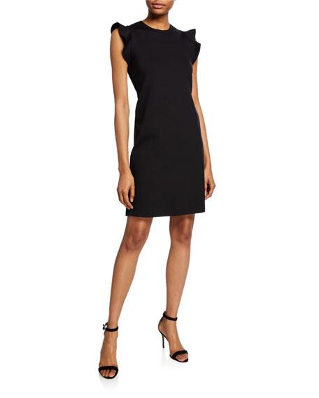 Escada Sport Delena Ruffle-Sleeve Scuba Dress
