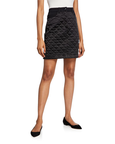 Ralla Quilted Nylon Skirt