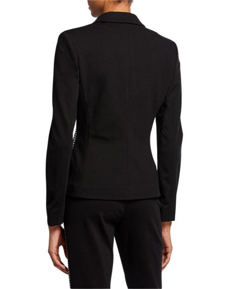 Escada Sport Bamianne Houndstooth-Side Blazer Jacket