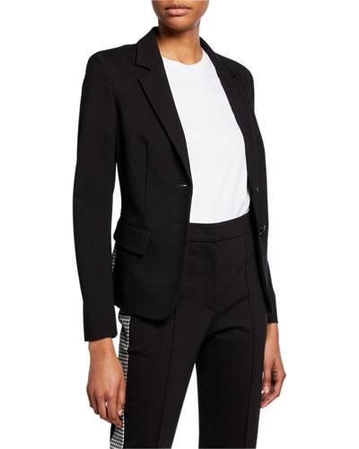 Bamianne Houndstooth-Side Blazer Jacket