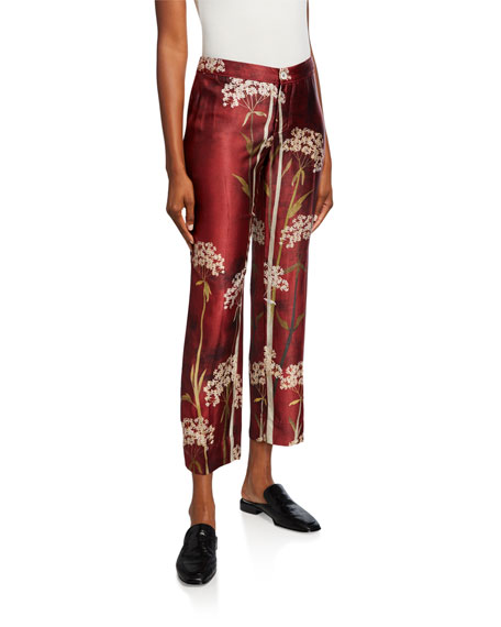F.R.S For Restless Sleepers Landscape-Print Cropped Pants