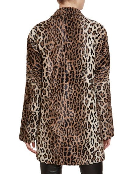 Redemption Leopard-Print Faux-Fur Jacket