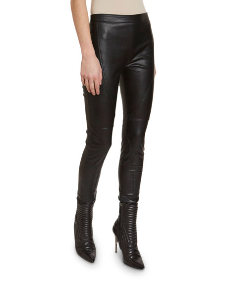 Redemption Seamed Faux-Leather Leggings