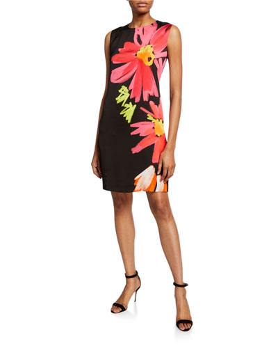 Mrs S Demici Floral Sleeveless Shift Dress