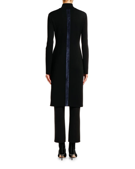 Giorgio Armani Fitted Jersey Zip-Front Jacket