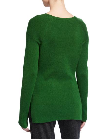 Loro Piana Canary Baby-Cashmere V-Neck Sweater