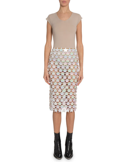 Paco Rabanne Tank and Star-Paillette Combo Dress
