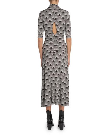 Paco Rabanne Art Deco Jersey Cumberbun Skirt