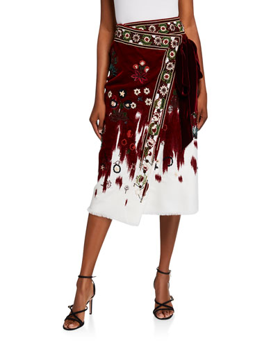 Embroidered Wrapped Skirt