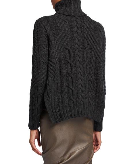 Zac Posen Cable-Knit Turtleneck Sweater