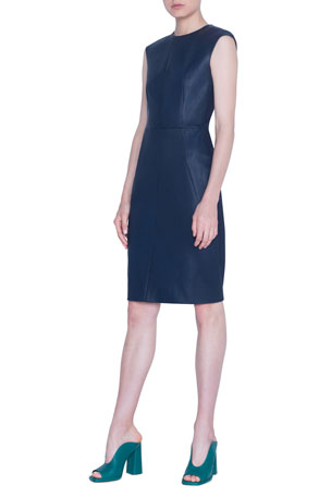 Akris punto Napa-Front Jersey Sheath Dress