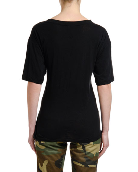 UNRAVEL Knotted Short-Sleeve T-Shirt