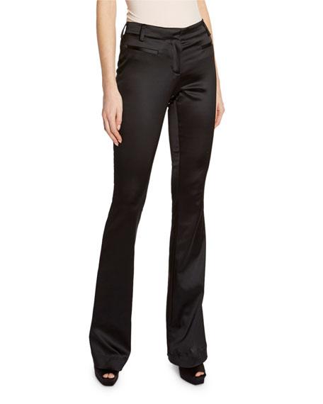 TOM FORD Silk Satin Boot-Cut Pants