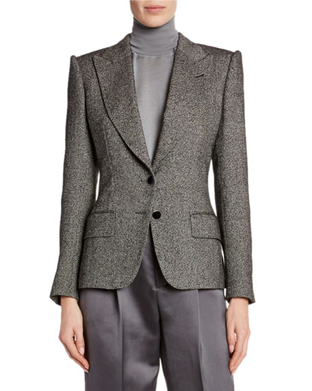 TOM FORD Donegal-Tweed Strong-Shoulder Jacket