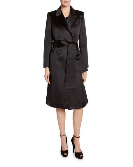 TOM FORD Peak-Lapel Tie-Waist Coat