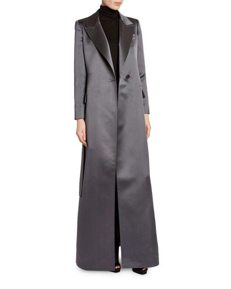 TOM FORD Floor-Length Satin Evening Coat