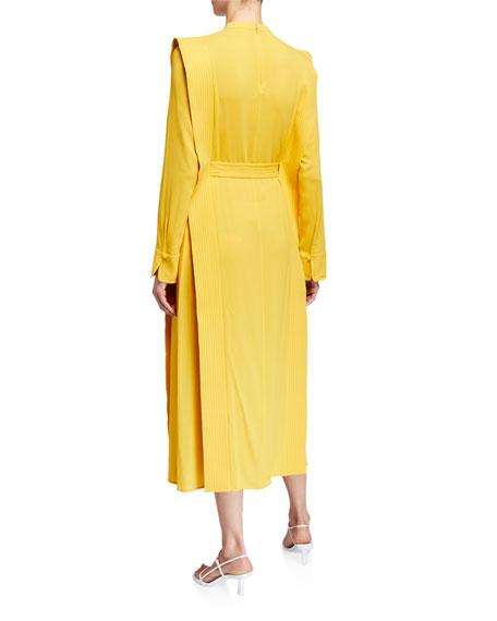 Stella McCartney Long-Sleeve Belted Midi Dress