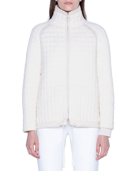 Akris Wool-Silk Quilted Parka Jacket