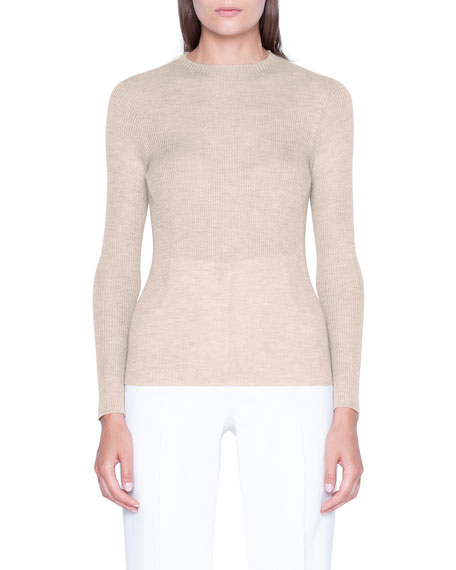 Akris Cashmere-Silk Crewneck Sweater