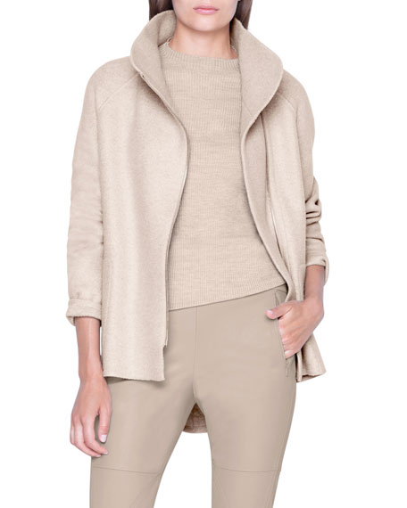 Akris Jackets CASHMERE JERSEY ZIP-FRONT JACKET