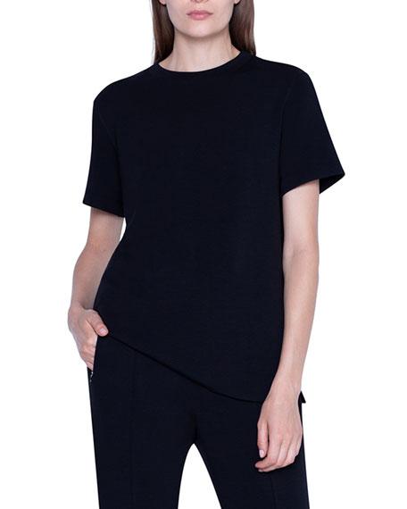 Akris Crewneck Short-Sleeve Sweater