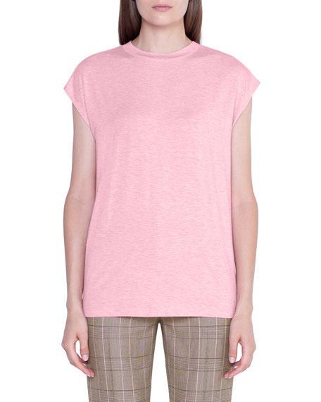 Akris Heathered-Silk Oversized T-Shirt