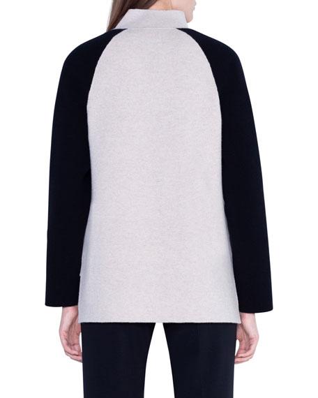 Akris Cashmere Colorblocked Open-Front Jacket