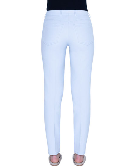 Akris Cotton-Silk Straight-Leg Jeans