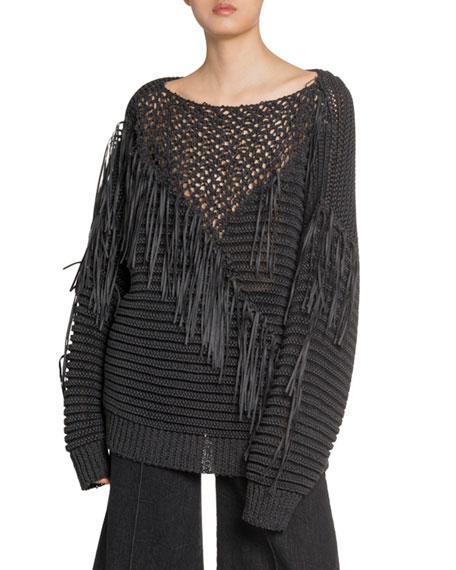 Stella McCartney Crocheted Fringe Sweater