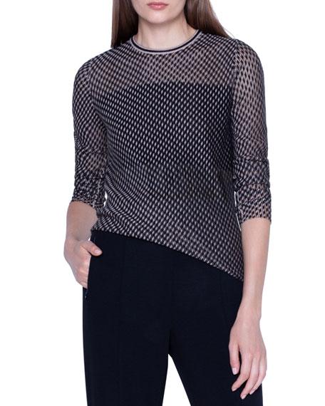 Akris Sheer Tweed Jacquard Sweater