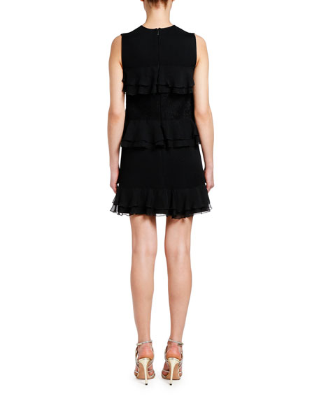 Giambattista Valli Ruffle-Tiered Sleeveless Dress