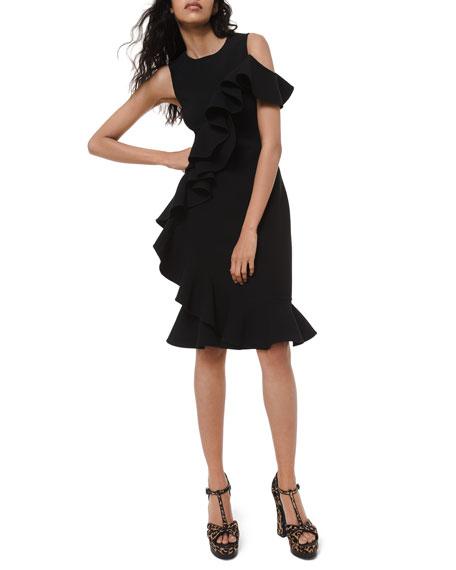 Michael Kors Collection Stretch Wool Sheath Dress