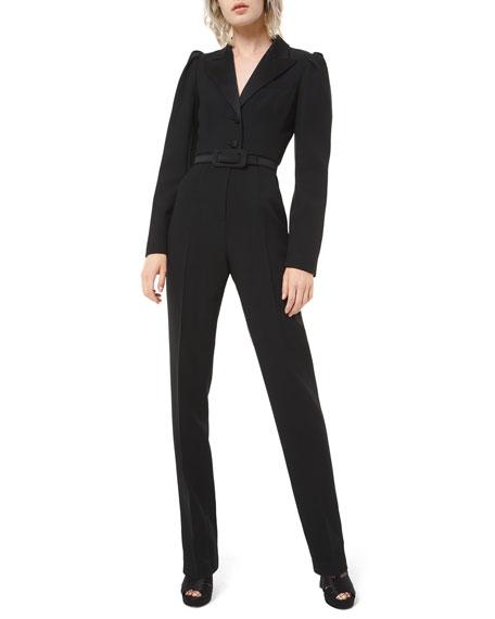 Michael Kors Collection Puff-Sleeve Blazer Jumpsuit