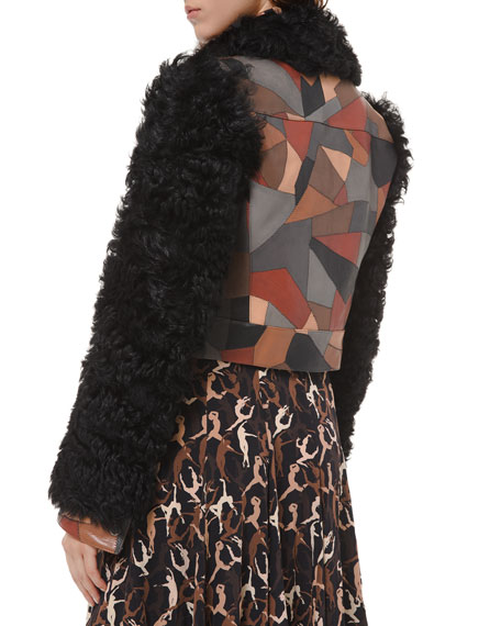 Michael Kors Collection Shearling Cropped Jacket