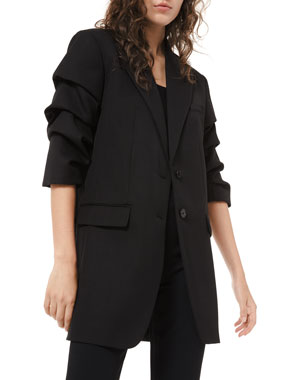 Michael Kors Collection Crushed-Sleeve Blazer