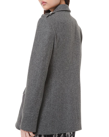 Michael Kors Collection Wool Military Coat