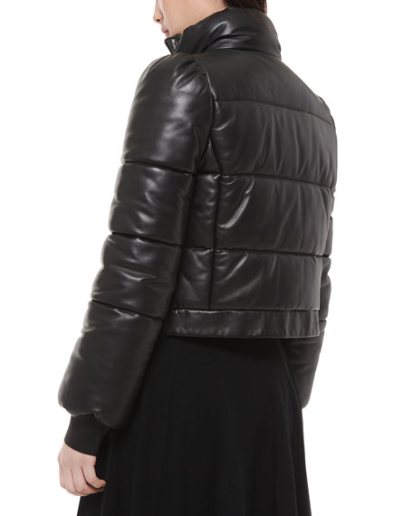 Michael Kors Collection Quilted Leather Puffer Jacket