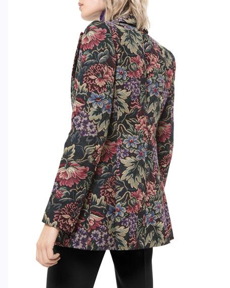 Michael Kors Collection Floral Brocade Tuxedo Blazer