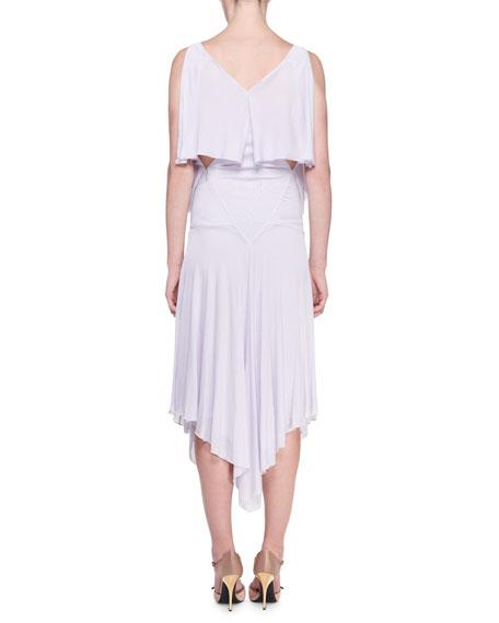TOM FORD Sleeveless Tiered Jersey Handkerchief Dress