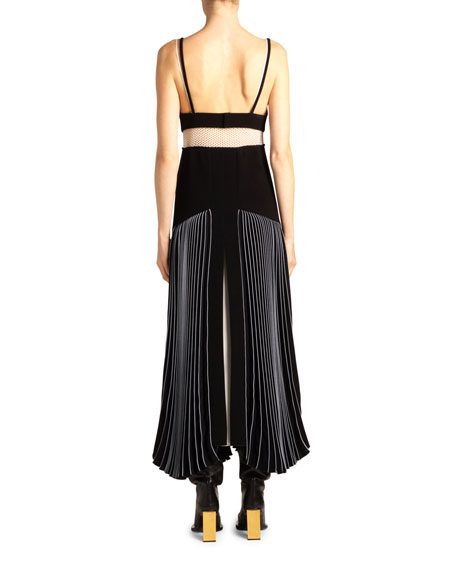Proenza Schouler Trump l'Oeil Mixed Knit Dress