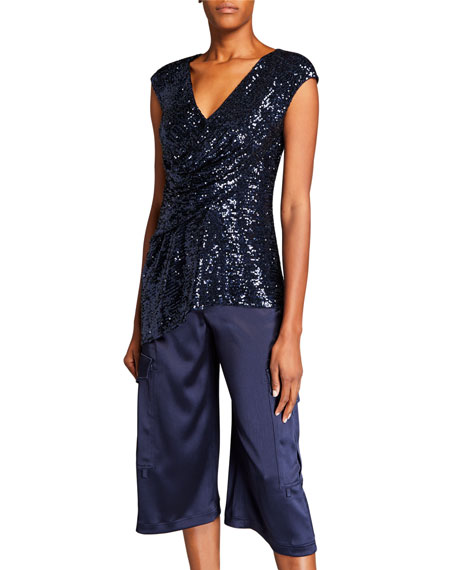 Sies Marjan Sequined Draped Front