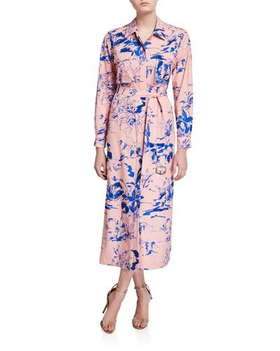 Watercolor Floral Shirtdress